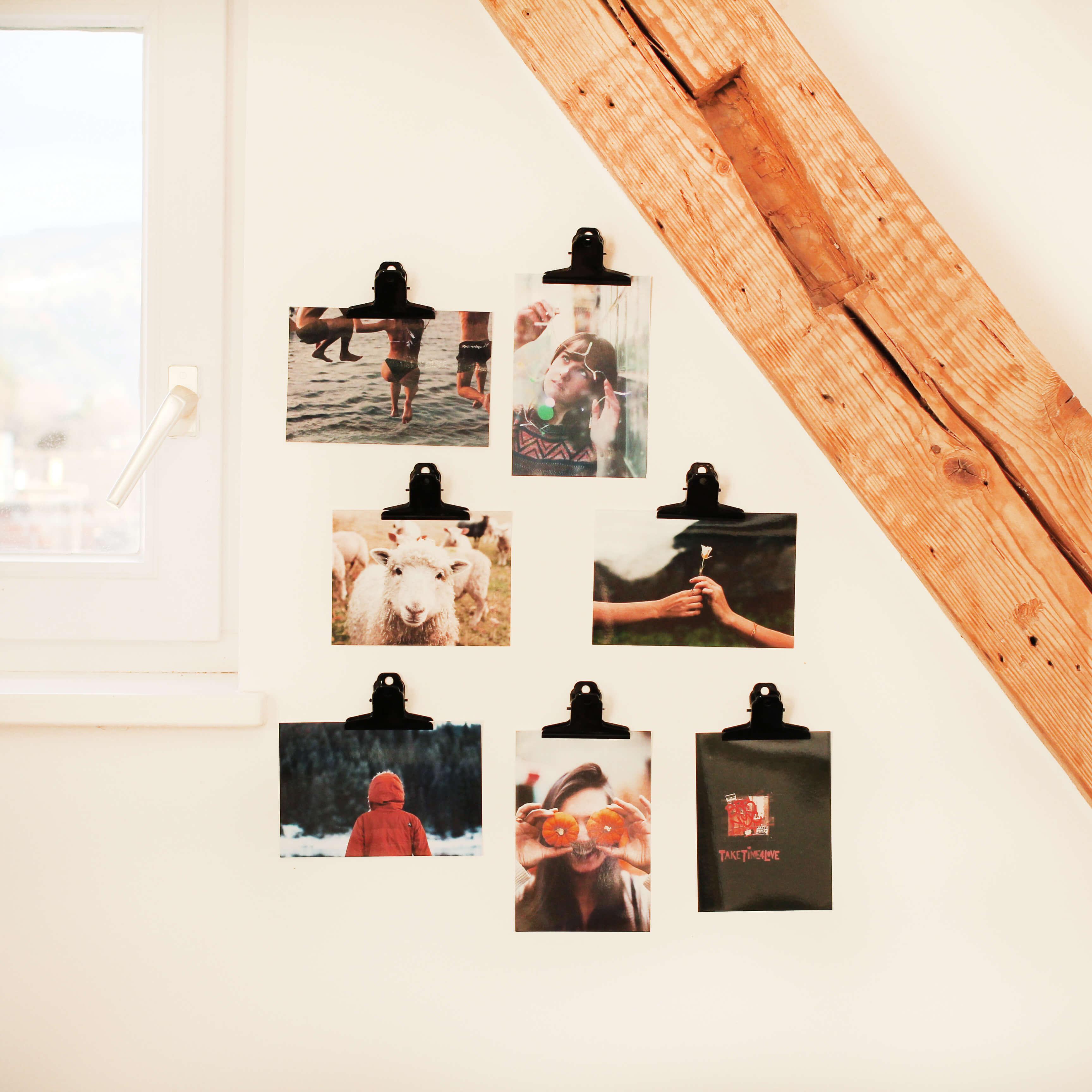 Fotos Anpinnen Ankleben Festbinden 3 Ideen Fur Die Prasentation